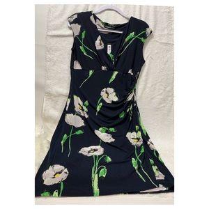Catherine Malandrino Empire Waist Mock Wrap Dress